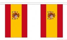 SPAIN (WITH CREST) BUNTING - 3 METRES 10 FLAGS